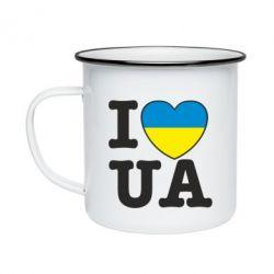 Кружка эмалированная I love UA