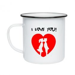 Кружка эмалированная I love you - FatLine