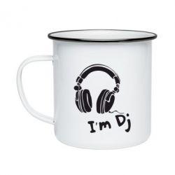 Кружка эмалированная I'm DJ