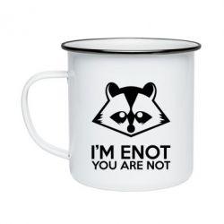 Кружка эмалированная I'm ENOT
