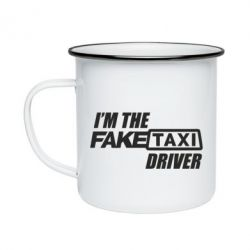 Кружка эмалированная I'm the Fake Taxi Driver