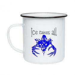 Кружка эмалированная Ice takes all Dota