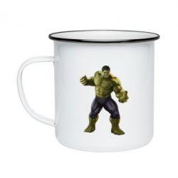 Кружка емальована Incredible Hulk 2