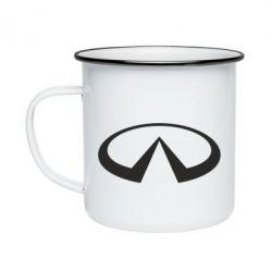 Кружка эмалированная Infiniti logo