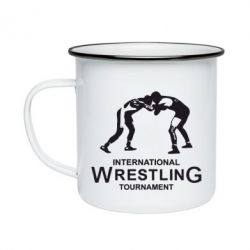 Кружка эмалированная International Wrestling Tournament - FatLine