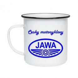 Кружка емальована Java Cesky Motocyclovy