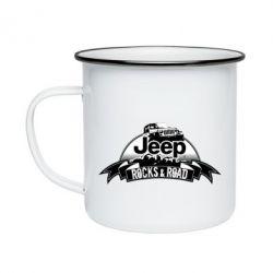 Кружка эмалированная Jeep rocks
