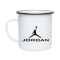 Кружка емальована Jordan