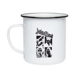 Кружка емальована Judas Priest