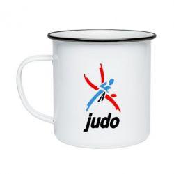 Кружка емальована Judo Logo