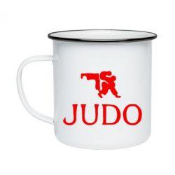 Кружка эмалированная Judo