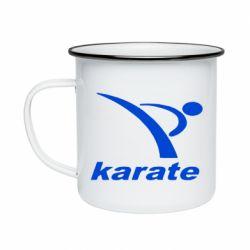 Кружка эмалированная Karate