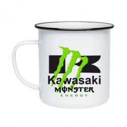 Кружка емальована Kawasaki Monster Energy