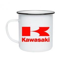 Кружка эмалированная Kawasaki