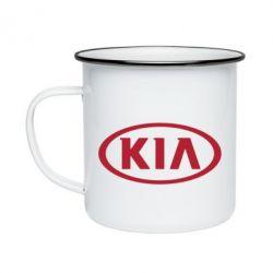 Кружка эмалированная KIA