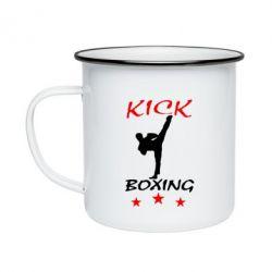 Кружка емальована Kickboxing Fight