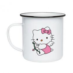 Кружка эмалированная Kitty амурчик - FatLine