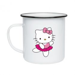 Кружка эмалированная Kitty балярина