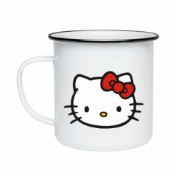 Кружка эмалированная Kitty