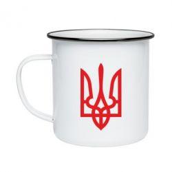 Кружка эмалированная Класичний герб України