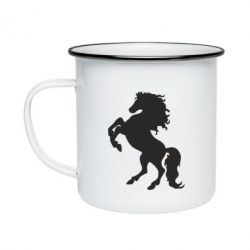 Кружка емальована Кінь