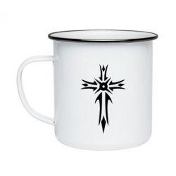 Кружка эмалированная Крест 2