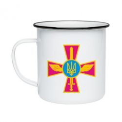 Кружка емальована Хрест з мечем та гербом