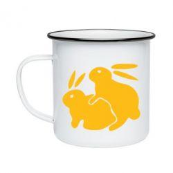 Кружка эмалированная Кролики - FatLine