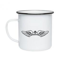 Кружка емальована Крила десанту