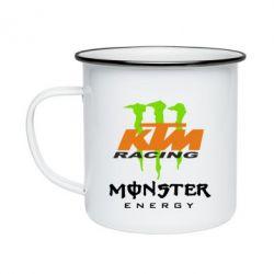 Кружка эмалированная KTM Monster Enegry