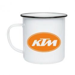 Кружка емальована KTM