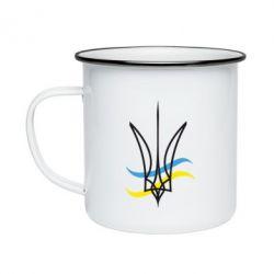 Кружка емальована Кумедний герб України