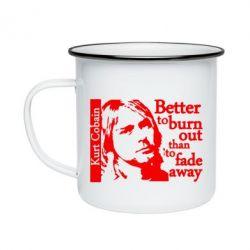 Кружка эмалированная Kurt Cobain