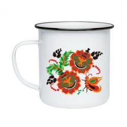 Кружка эмалированная Квіти України