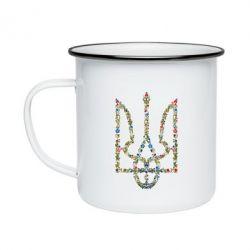 Кружка эмалированная Квітучий герб України