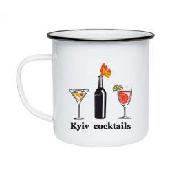 Кружка емальована Kyiv Coctails
