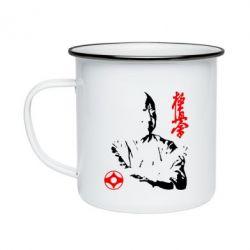 Кружка емальована Kyokushin Kanku logo