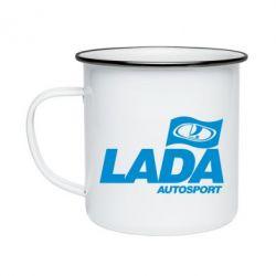 Кружка эмалированная Lada Autosport