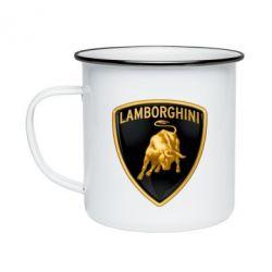 Кружка емальована Lamborghini Logo