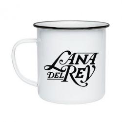 Кружка емальована Lana Del Rey