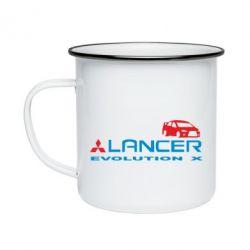 Кружка эмалированная Lancer Evolution X