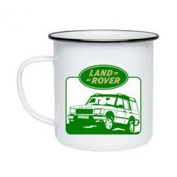 Кружка емальована Land Rover
