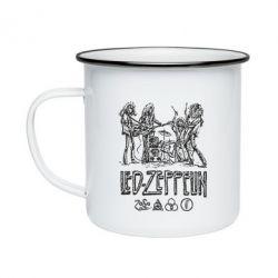 Кружка эмалированная Led-Zeppelin Art