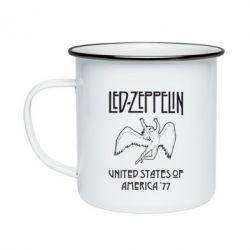 Кружка эмалированная Led Zeppelin United States of America 77