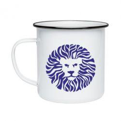 Кружка эмалированная лев - FatLine