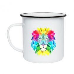 Кружка эмалированная Lion vector