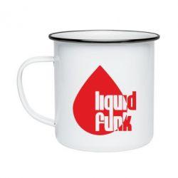 Кружка эмалированная Liquid funk - FatLine