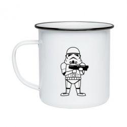 Кружка емальована Little Stormtrooper
