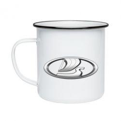Кружка эмалированная Logo vase