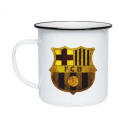 Кружка емальована Логотип Барселони